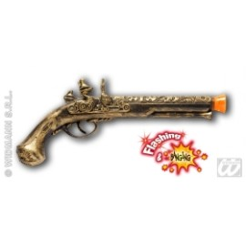 Pistol pirat cu sunet si lumina - Accesoriu carnaval