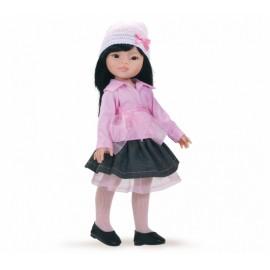 Papusa Liu in bluza roz si fusta denim - Paola Reina