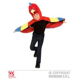 Costum papagal poncho aripi - marimea 128 cm