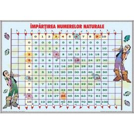 Plansa - Impartirea numerelor naturale