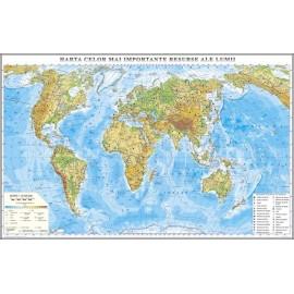 Harta fizica a Lumii 2000x1400 mm