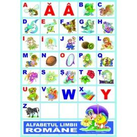 Alfabetul limbii romane fara sipci de plastic - 31 planse