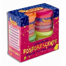 Tempera fluorescenta set 4 culori 504 – cutie cu 4 borcanase de 55 ml