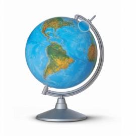 Glob iluminat Lumieri 30 cm - harta fizica si politica in engleza si capitale iluminate