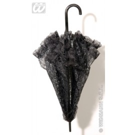 Umbreluta dantela neagra - Accesoriu carnaval