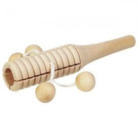 Instrument muzical cu 4 bile din lemn