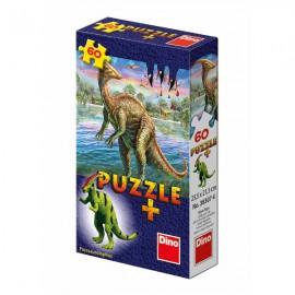 Puzzle dinozauri si minifigurina