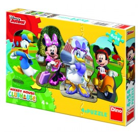 Puzzle 4 in 1 - mickey si prietenii (54 piese)