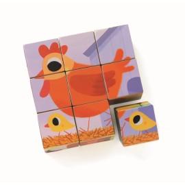 Cuburi din lemn Djeco