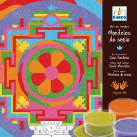 Joc cu nisip colorat Djeco Mandala tibetană