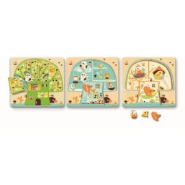 Puzzle lemn copacul Djeco