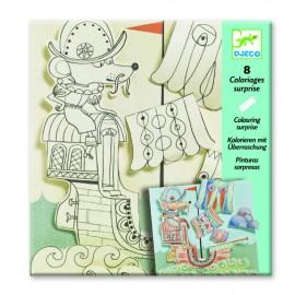 Planșe de desenat cu surprize Djeco, Exploratori