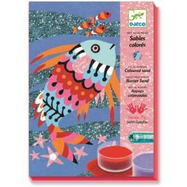 Nisip colorat Djeco Pești strălucitori