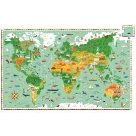 Puzzle observație Djeco În jurul lumii