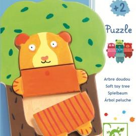 Puzzle lemn Djeco Copăcelul vesel