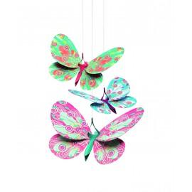 Decoraţie cameră copil fluturi sclipitori
