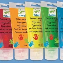 6 culori de pictat cu mâna Djeco