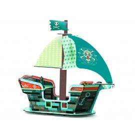 Corabia piratilor Djeco machetă 3D