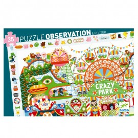 Puzzle observație Djeco Parcul de distracții