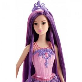 Regatul parului fara de capat - Barbie Printesa Mov