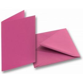 Set 5 felicitari cu plic si insert roz