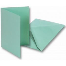 Set 5 felicitari cu plic si insert verde menta