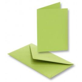 Set 5 felicitari cu plic si insert verde crud
