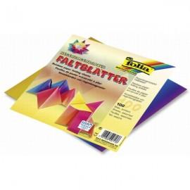 Hartie Origami 100 Coli Curcubeu 10 X 10 imagine