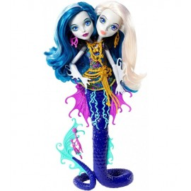 Peri si Pearl Serpentine Reef Glow in the dark - Monster High Great Scarrier Reef