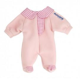 Pijama roz papusi 21 cm Miniland