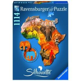 Puzzle contur continentul africa 1114 piese