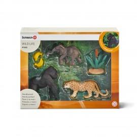 Set figurine schleich set jungla 41403
