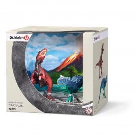 Set figurine schleich set carnotaurus si gigantosaur mic 42215
