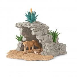 Set figurine schleich pestera cu lei 42256