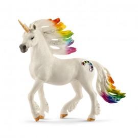Armasar unicorn curcubeu cu strasuri schleich70523