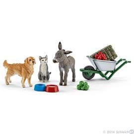 Set hranire la ferma +animale schleich41423