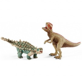 Saichania and gigantosaur, mic schleich41426