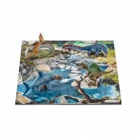 Mini dinozauri + puzzle 24 piese apa schleich42330