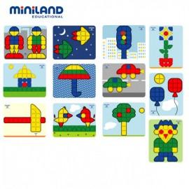 Set Scolar 12 Modele Superpegs 1 - Miniland imagine