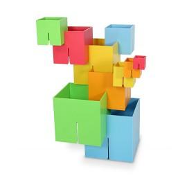 Joc De Constructie Cuburi Dado Original - Fat Brain Toys imagine