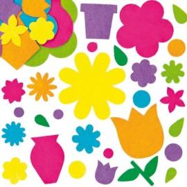 Flori autoadezive din fetru - Baker Ross