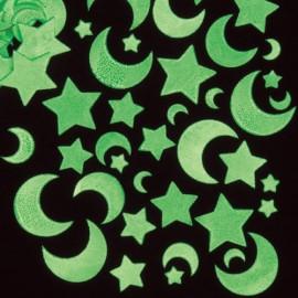 Autocolante fosforescente Stele si luna - Baker Ross