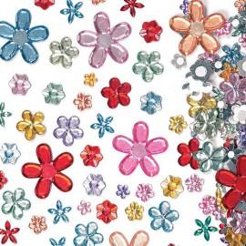 Floricele autoadezive acril - Baker Ross