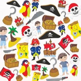 Autocolante neopren pirati - Baker Ross