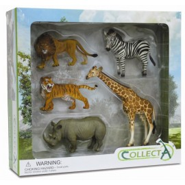 Set 5 figurine safari Collecta