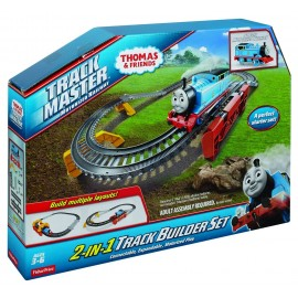 Fisher Price Thomas and Friends 2 in 1 Constructorul de piste