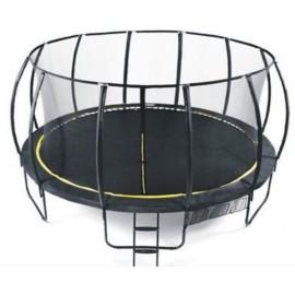 Set trambulina 427 cm cu plasa si scarita Ookee Jump Carbon