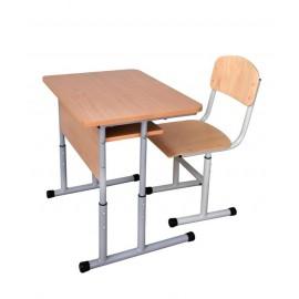 Set mobilier scolar individual cu inaltime reglabila