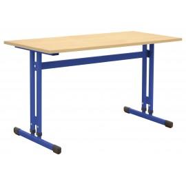 Banca scolara IN-R ajustabila mas 3-7 dubla albastra