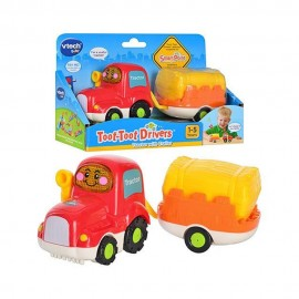 Toot toot tractor cu remorca vtech 152303